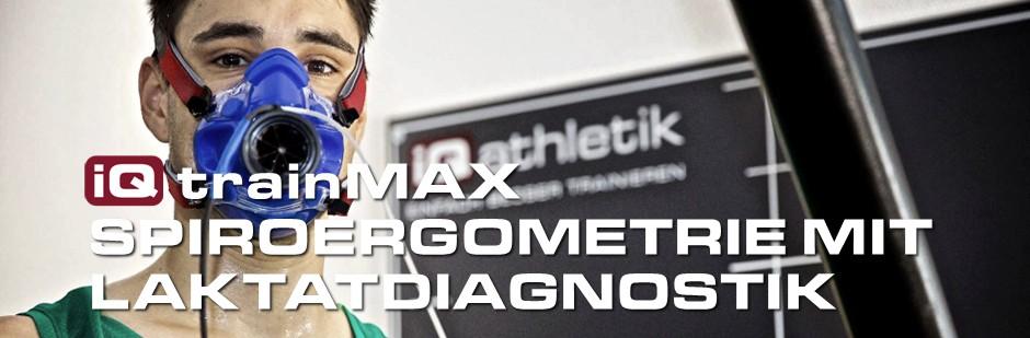iQ trainMAX Spiroergometrie mit Laktatdiagnostik zum Bestimmen von individuellen Trainingszonen