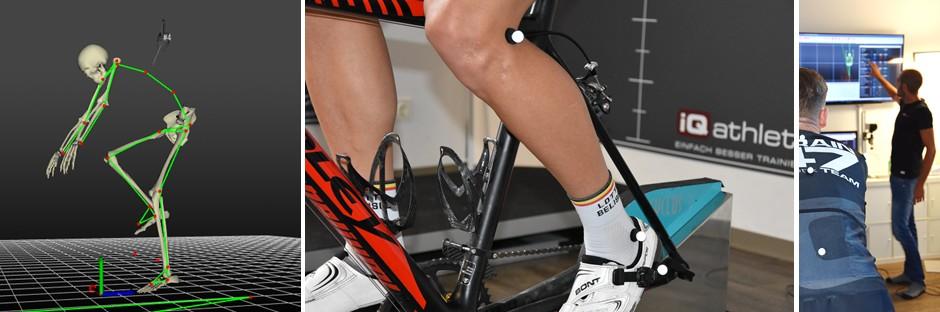 Bikefitting mit modernster 3D-Motion-Capture-Technologie und Satteldruckmessung