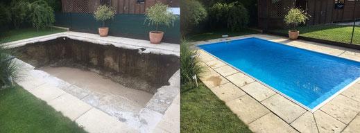 Pool Einbau