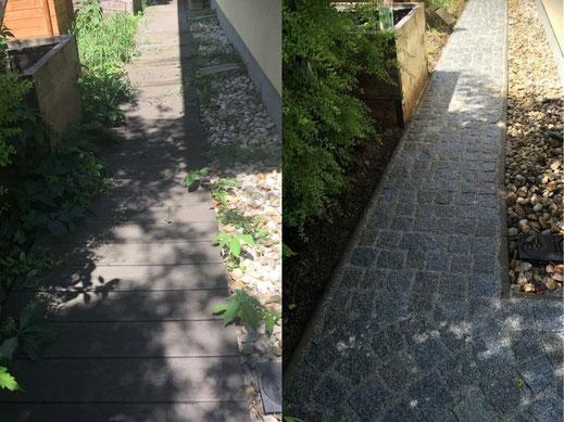 Granitpflaster Verlegung