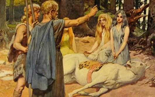 Wodan heilt Balders Pferd (Emil Doepler, 1905)