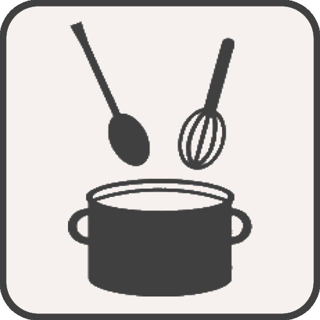 Kleinküche in Komfortzimmern