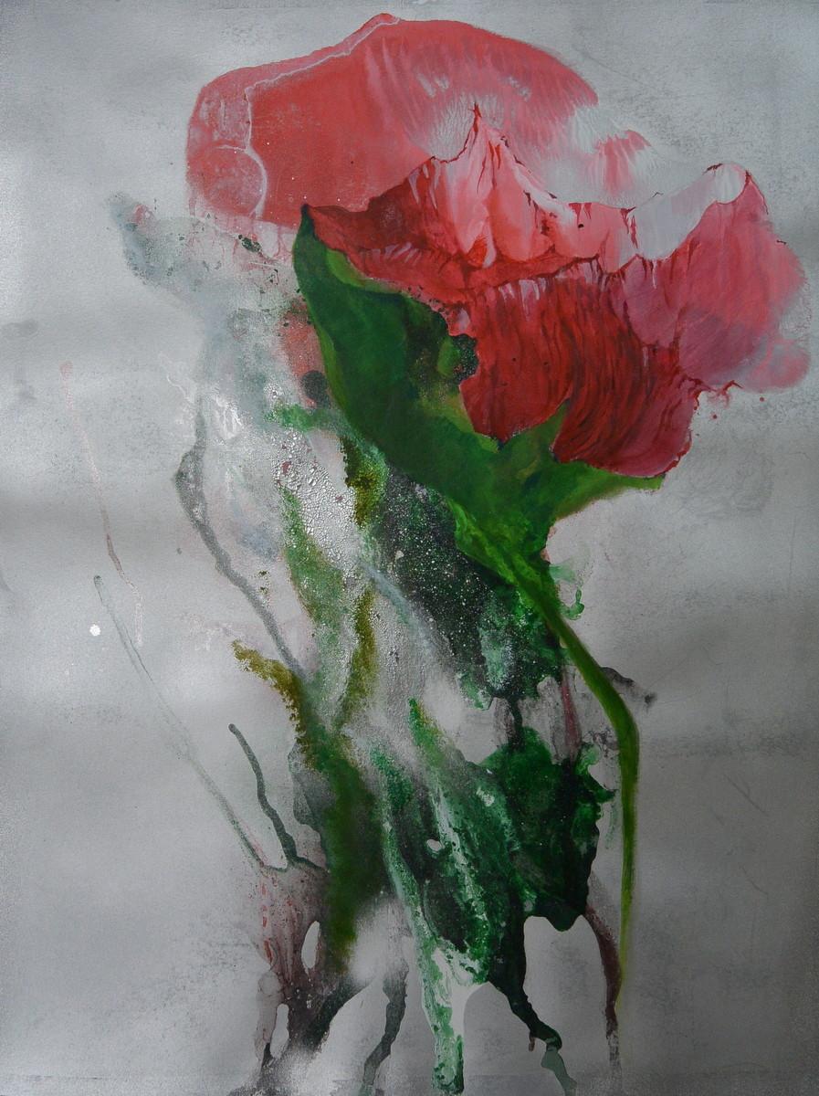 Mischtechnik auf Papier, 50 x 64 cm