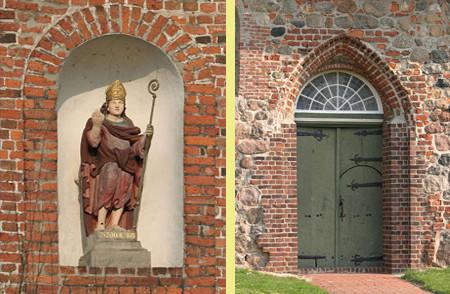 St. Nicolaus und Kirchentür