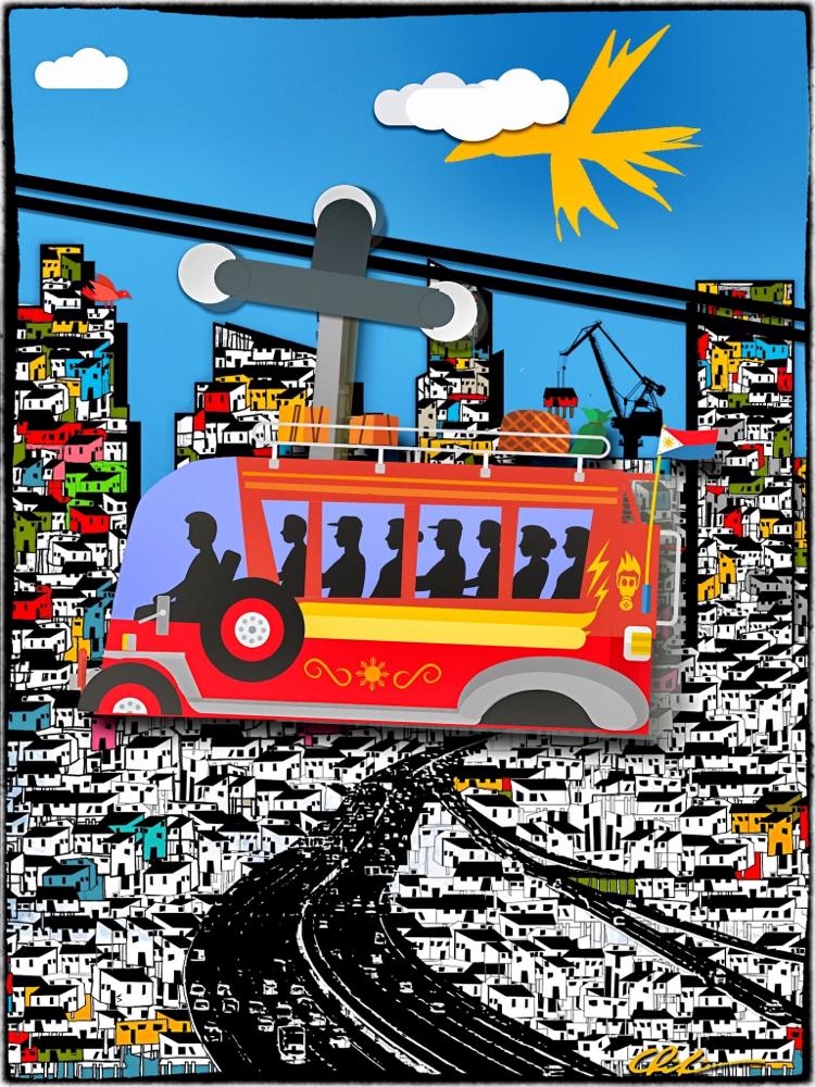 Cover der Arbeitspapiere für eine Doppelmayr-Gondelbahn als Massentransportmittel in Manila.