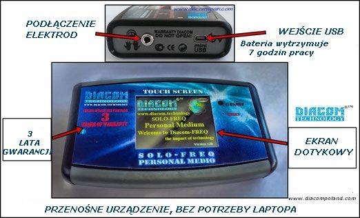 Opis urządzenia Diacom Solo Freq Personal Medio