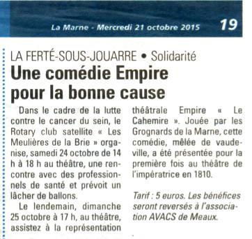 La Marne - 21 octobre 2015 -