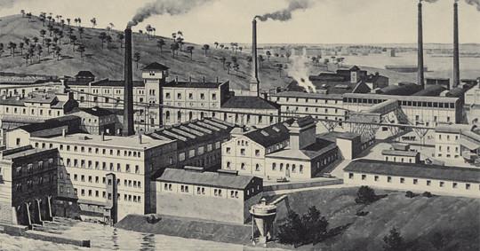 Die Fabrik um 1920