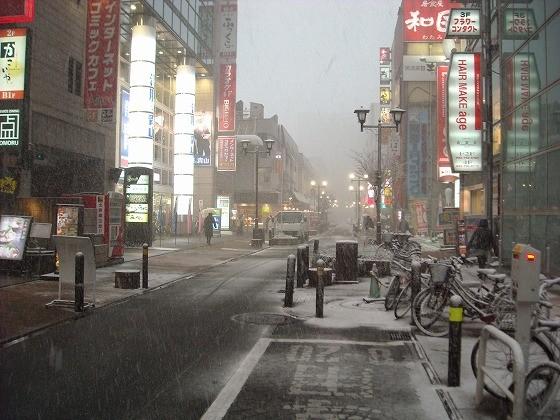 福岡市バイク屋ブログ・天神の雪