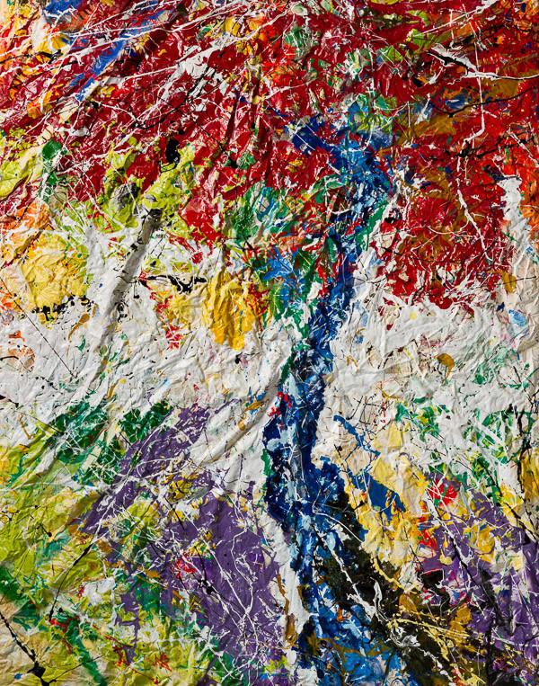 Trascendenze  _resine, pigmenti e smalti su tela aggomitolata_cm 140x110