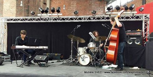Trio B. Ebster avec J. Spieldenner, Halle verrière, Meisenthal, 2016 © Michel Svec