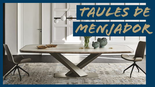 taula de menjador de disseny i cadires