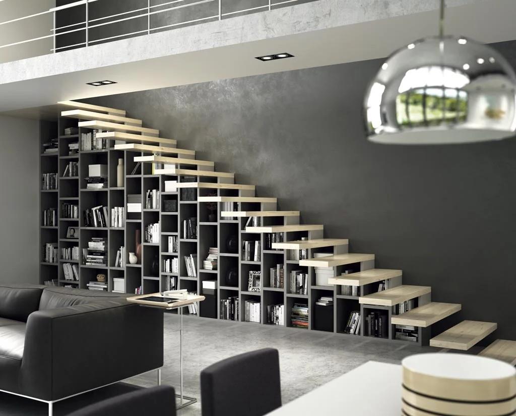 tienda-muebles-libreria-a-medida-escalera-barcelona