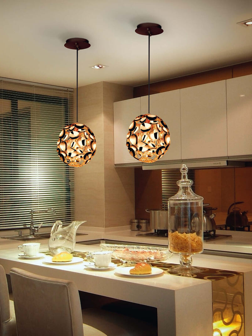 lamparas colgantes cocina