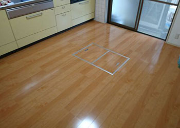 床のリフォーム後