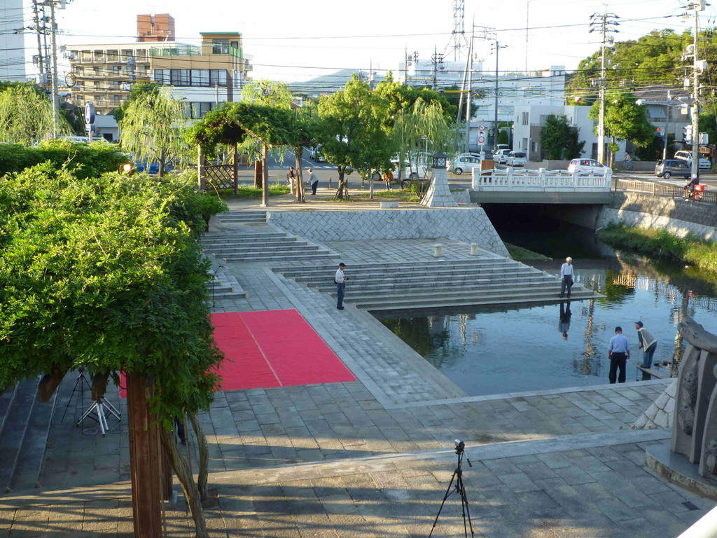 倉敷川河畔 親水公園