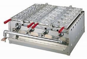 半自動鯛焼き機 板の入れ替えにより、たこ焼き&鯛焼きなどの組合せも可能です。