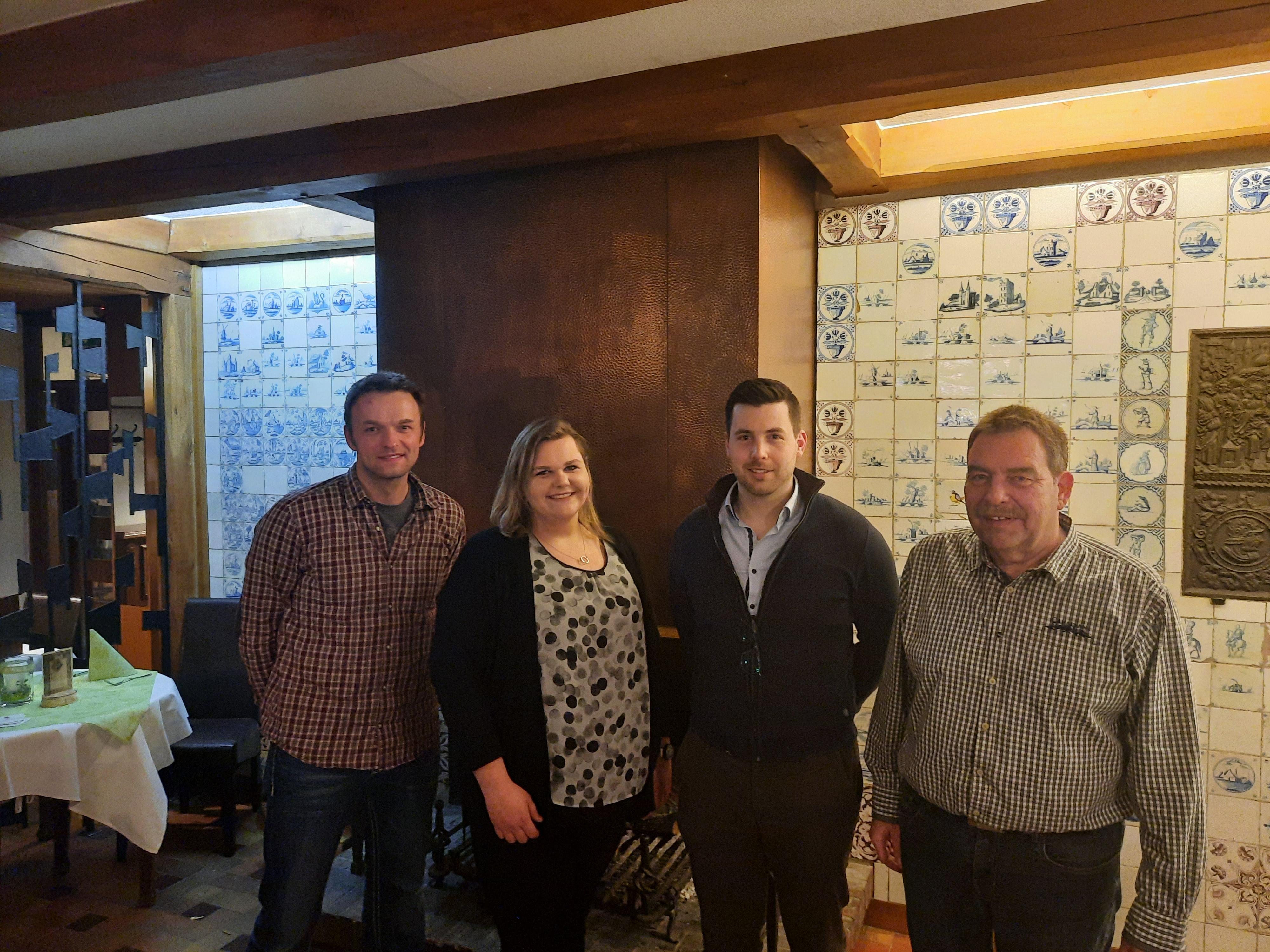 von Links: Hendrik T., Norbert B., Karsten H., Ursel A.