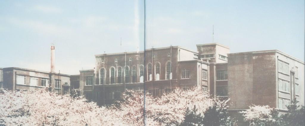 県商から見た旧校舎の全景