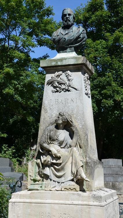 La sépulture de Jules Barni au cimetière de la Madeleine
