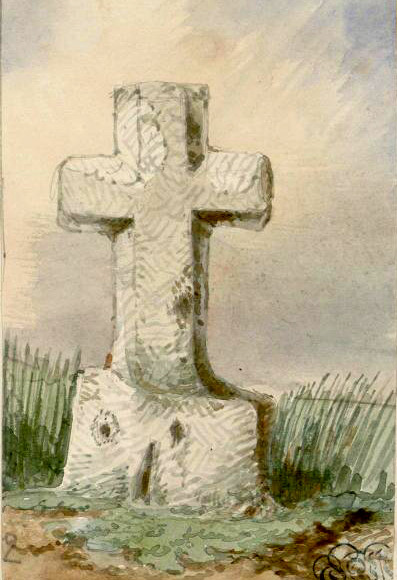 Cerisy-Buleux- Aquarelle Oswald Macqueron- 12-04-1858- BM Abbeville