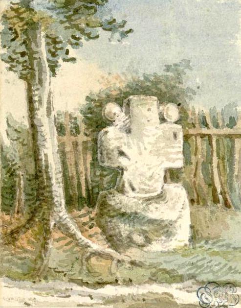Ercourt- Aquarelle Oswald Macqueron- 31-08-1840- BM Abbeville