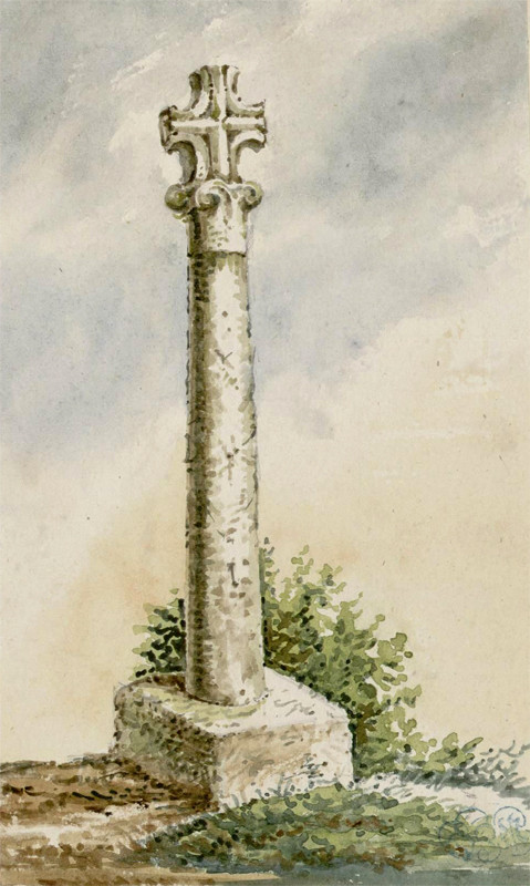 Huppy- Aquarelle Oswald Macqueron- 4-11-1856- BM Abbeville