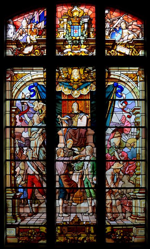 Le vitrail de l'Hôtel de Ville de Doullens