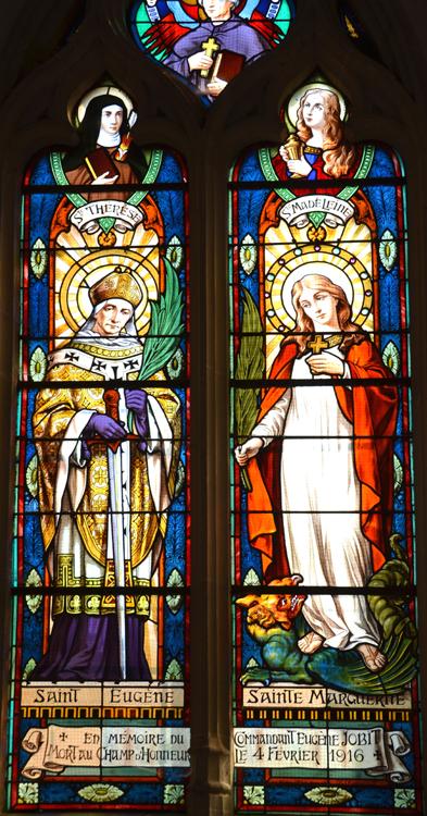 Eglise de Morcourt: saint Eugène et sainte Marguerite