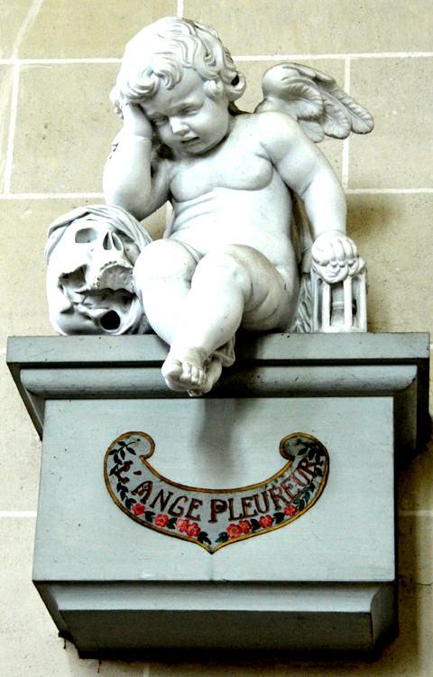 L'ange pleureur de l'église de Bovelles