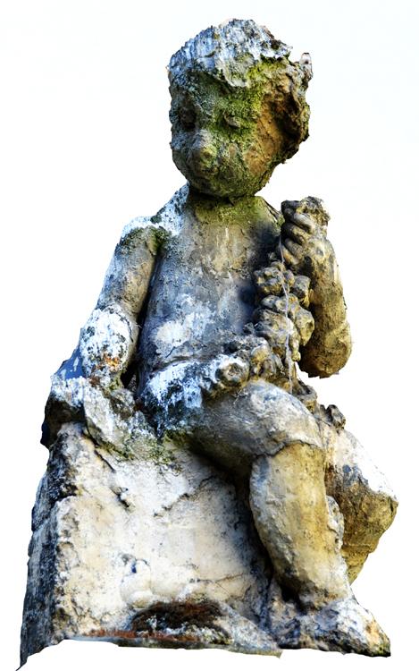 """Ebauche d'un """"Amour"""" avec sa guirlande de fleurs (collection privée)"""