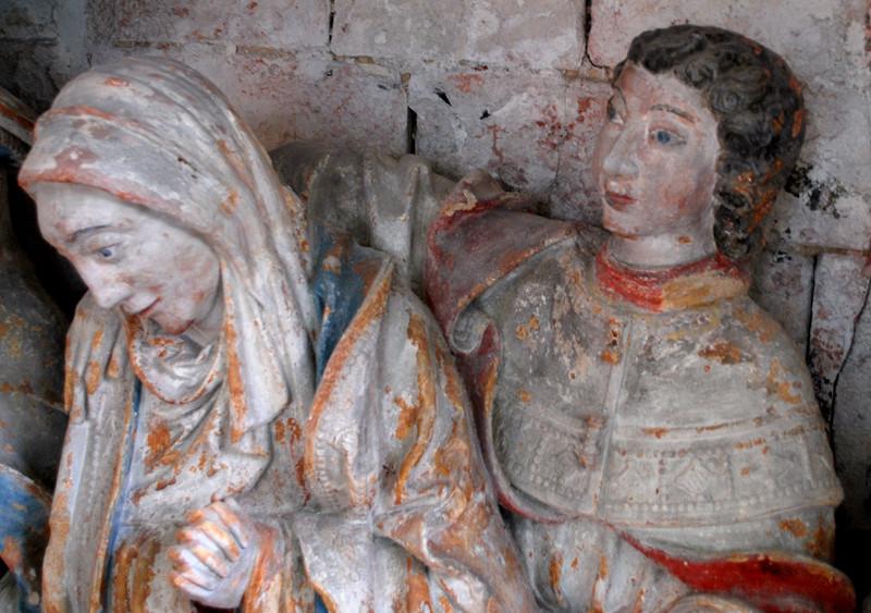 Le sépulcre de l'église d'Oust-Marest- Marie et Jean