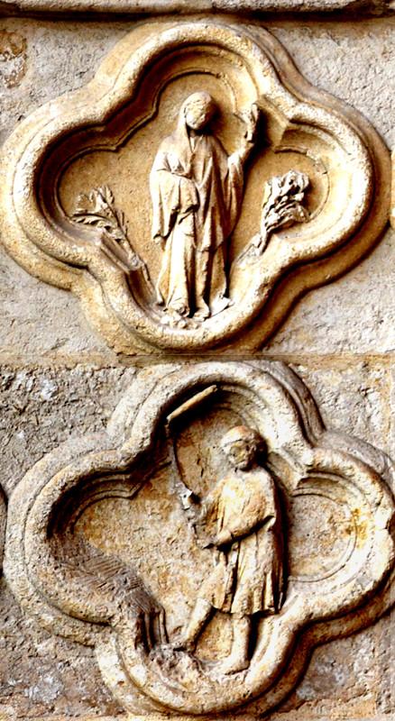 Août- Vierge- Battage des grainsau fléau