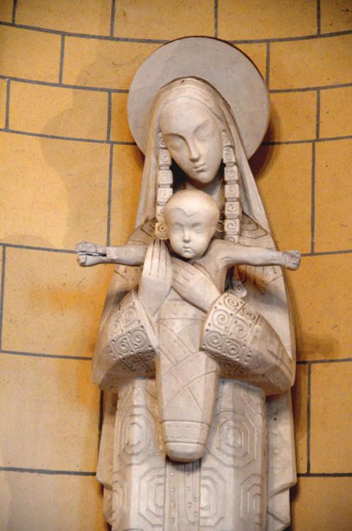 Détail de la Vierge de Villers-Tournelle