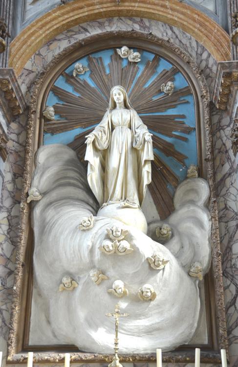 Corbie- Eglise abbatiale: autel de la Vierge