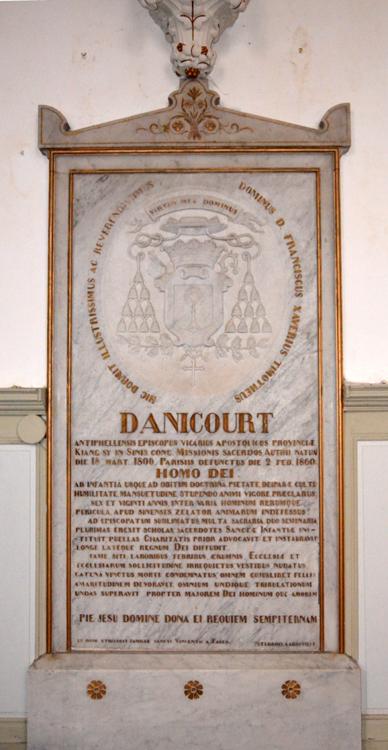 Tombeau de Mgr Danicourt: église d'Authie