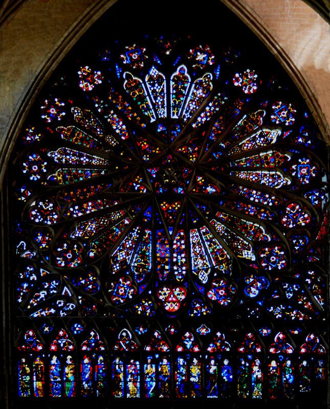 La Rose des Vents: transept Nord