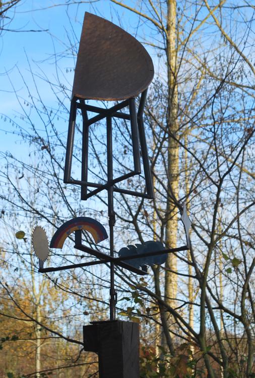 La girouette de Gribouille à Contay sur une idée de Laurent Devime