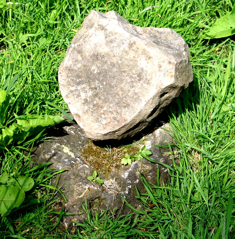 L'alignement d'Eppeville.la plus petite des cinq pierres