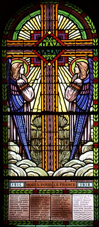 Vitrail de l'église Saint-Martin d'Ailly-sur-Noye