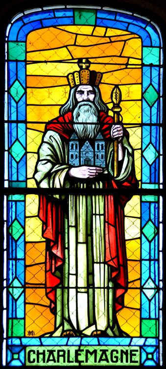 Une représentation de Charlemagne dans l'église d'Eterpigny