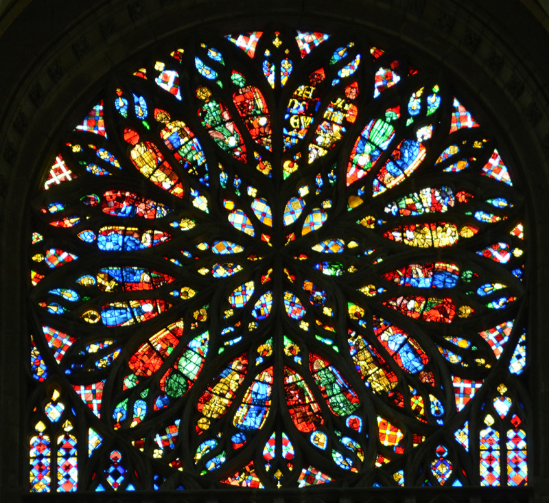 La Rose du Ciel: transept Sud