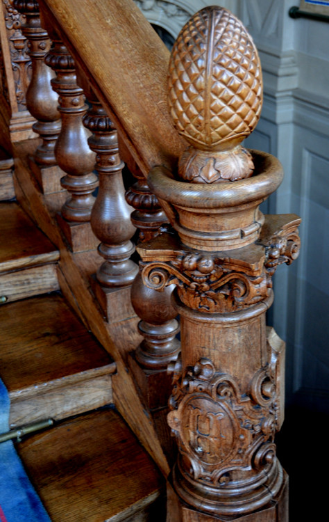 Tête de départ de l'escalier d'honneur-