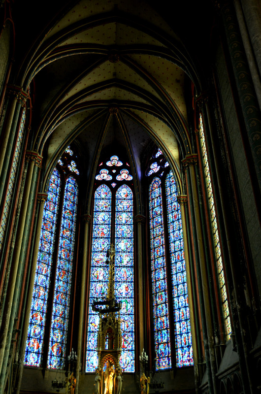 Vitrail du choeur- Cathédrale Notre-Dame d'Amiens