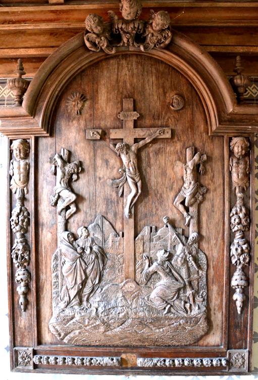 Eglise de Brailly-Cornehotte- Crucifixion avec les deux larrons.