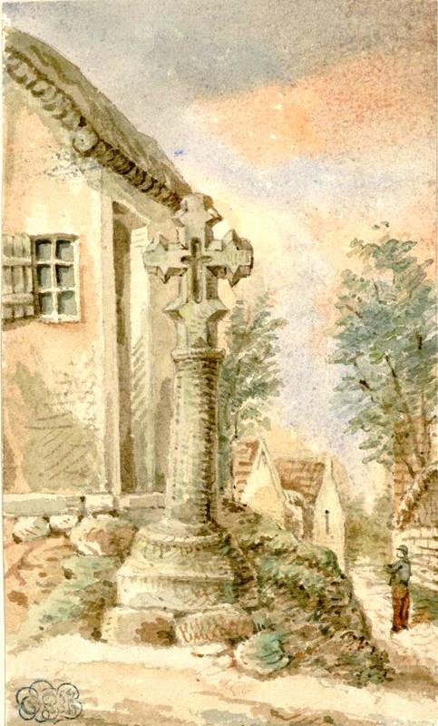 Millencourt-en-Ponthieu- Aquarelle  Macqueron-23 septembre 1859-BM Abbeville