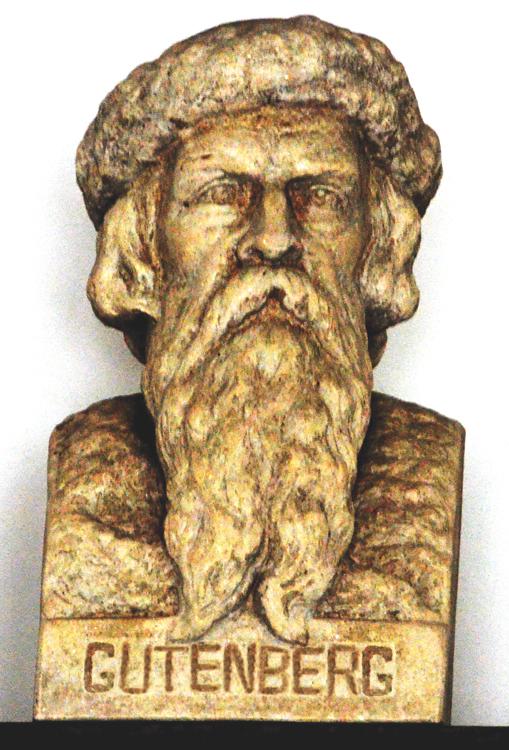 Le buste de Gutenberg à Abbeville par Alexandre Boisselier (1876-1943)