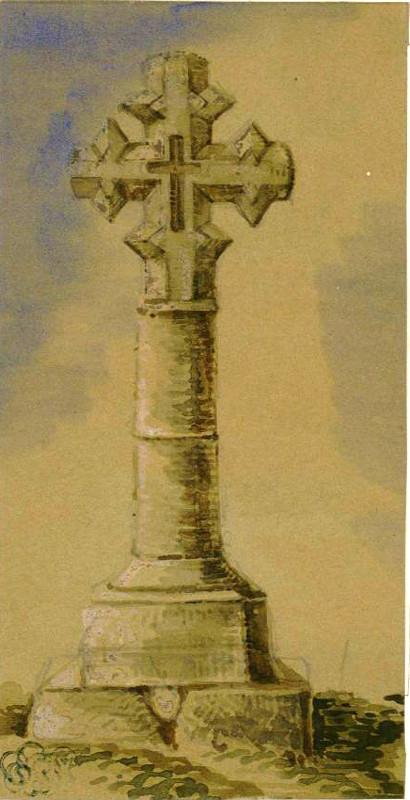 Millencourt-en-Ponthieu-Aquarelle de Macqueron-11 septembre 1853-BM Abbeville