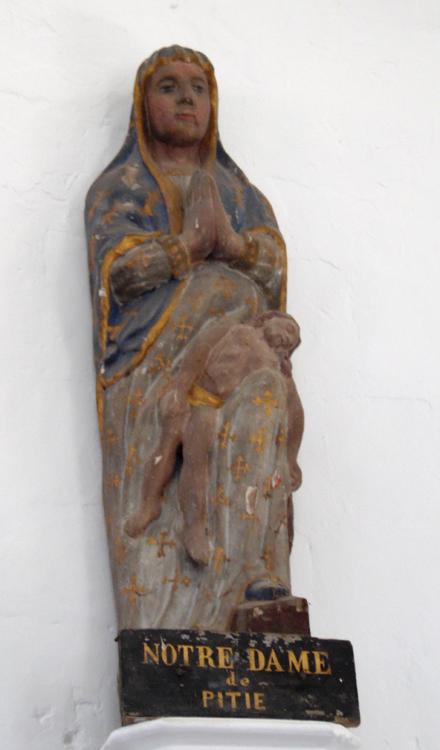 Eglise de Bresle: l'étrange Vierge de Pitié- Photo: Rémy Godbert