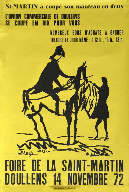 Doullens: une affiche pour la Saint-Martin en 1972
